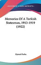 Memories of a Turkish statesman, 1913-1919 (1922)