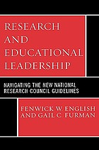 Research and educational leadership : navigating the new National Research Council guidelines