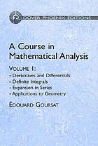 Derivatives and differentials, definite integrals, expansion in series, applications to geomatry