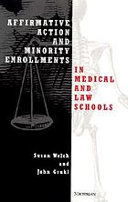 Affirmative action and minority enrollments in medical and law schools