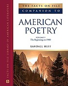 The Facts on File companion to American poetry