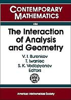 The Interaction of Analysis and Geometry : International School--Conference Analysis and Geometry, August 23-September 3, 2004, Novosibirsk, Russia