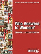 Who answers to women? : gender & accountability