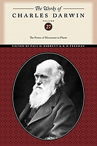The power of movement in plants, by Charles Darwin, assisted by Francis Darwin.  With a preface to the Da Capo ed. by Barbara Gillespie Pickard