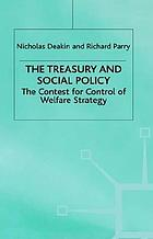 The treasury and social policy the contest for control of welfare strategy
