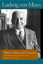 Nation, state, and economy : contributions to the politics and history of our time