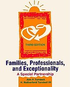 Families, professionals, and exceptionality : a special partnership