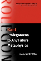 Prolegomena to any future metaphysic