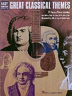 Great classical themes : easy guitar : with notes & tab