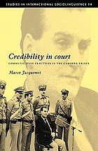 Credibility in court : communicative practices in the Camorra trials