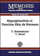 Hypergéométrie et fonction zêta de Riemann