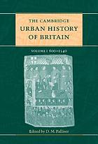 The Cambridge urban history of Britain