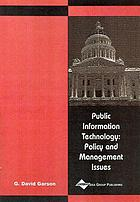 Public information technology : policy and management issues