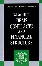 Firms, contracts, and financial structuresFirms constracts and financial structure