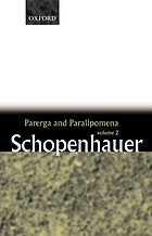 Parerga and Paralipomena : short philosophical essays