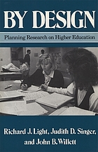 By design : planning research on higher education
