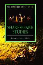 The Cambridge Companion to Shakespeare Studies