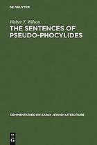 The sentences of Pseudo-Phocylides