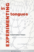 Experimenting in tongues : studies in science and language