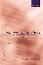 Numerical analysis : a mathematical introduction