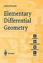 Elementary differential geometryElementary differential geometry