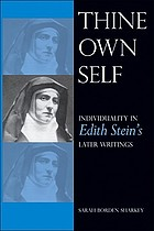 Thine own self individuality in Edith Stein's later writings