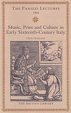 Music, print and culture in early sixteenth-century Italy