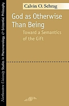 God as otherwise than being : toward a semantics of the gift
