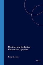 Medicine and the Italian universities, 1250-1600