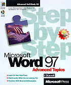 Microsoft Word 97 step by step