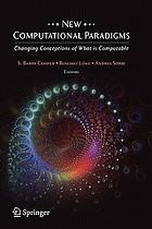 New computational paradigms : changing conceptions of what is computable
