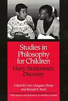 Studies in philosophy for children : Harry Stottlemeier's discovery