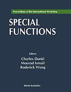 Proceedings of the international workshop, special functions : Hong Kong, 21-25 June 1999
