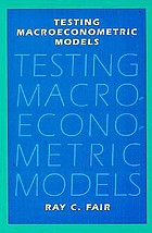 Testing macroeconometric models