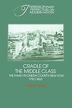Cradle of the middle class : the family in Oneida County, New York, 1790-1865