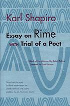 Essay on rime ; with, Trial of a poet