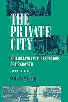 The private city; Philadelphia in three periods of its growth