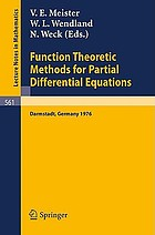 Function theoretic methods for partial differential equations : proceedings of the International Symposium held at Darmstadt, Germany, April, 12-15, 1976