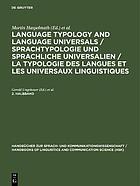 Language typology and language universals : an international handbook