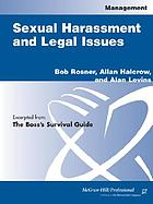 Sexual harassment and legal issues