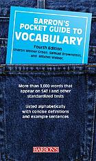 A pocket guide to vocabulary