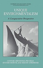 Unique environmentalism a comparative perspective