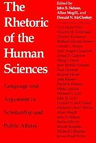 The Rhetoric of the human sciences : language and argument in scholarship and public affairs