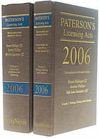 Paterson's licensing acts 2006