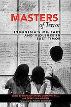 Masters of terror : Indonesia's military and violence in East Timor