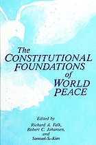 The Constitutional foundations of world peace
