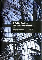 A critic writes essays by Reyner Banham