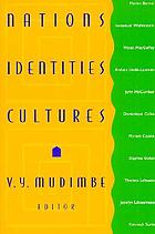 Nations, identities, cultures