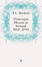 Protestant dissent in Ireland, 1687-1780