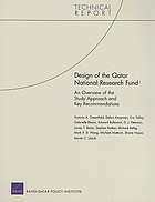 Design of the Qatar National Research Fund : an overview of the study approach and key recommendations